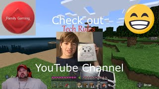 Minecraft Survival Island ep. 3 Family Gaming Camera give away