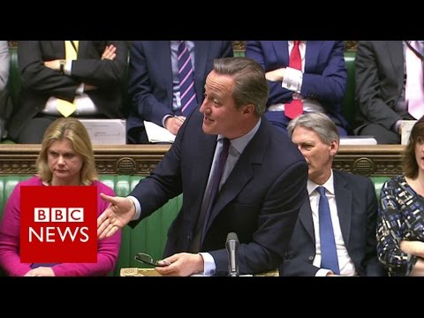 PMQs: Cameron asked English grammar questions by Lucas - BBC News