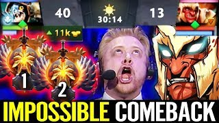 IMPOSSIBLE COMEBACK - TEAM FEED TOP SEA MMR Pro Carry Troll Warlord Dota 2