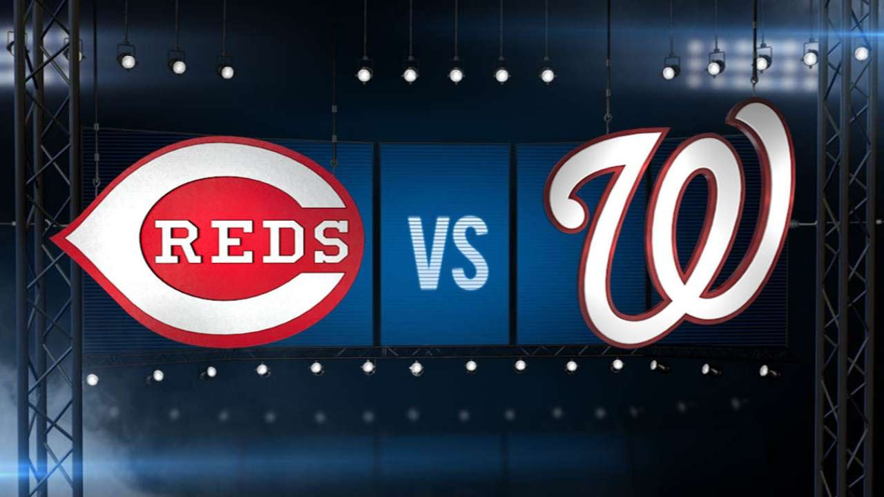 7/6/15: Suarez leads Reds past Nats to take opener