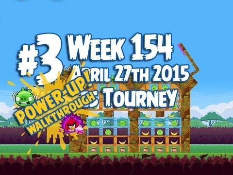 Angry Birds Friends Bubbles Tournament Level 3 Week 154 Power Up Highscore Walkthrough