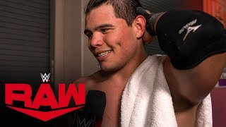Humberto Carrillo on earning Rollins' respect: Raw Exclusive, Oct. 21, 2019
