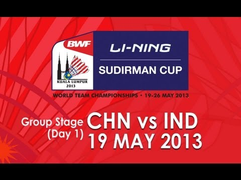 Group Stage - MS - Chen Long vs Parupalli Kashyap - 2013 BWF Sudirman Cup