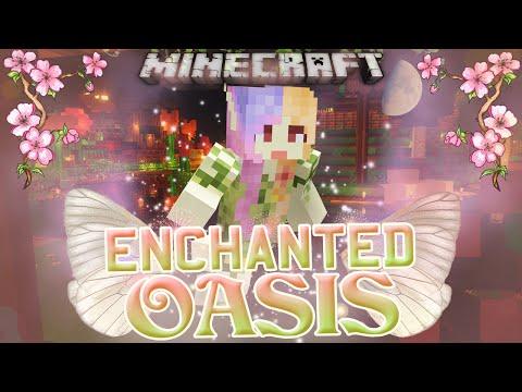 Minecraft: Enchanted Oasis making A Garden! 37 video