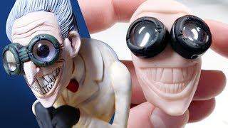Making a MAD SCIENTIST with MAGNIFYING GOGGLES from Scratch - Polymer Clay Timelapse Tutorial
