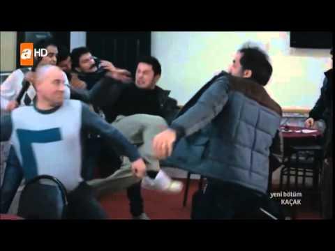 Kaçak 50.Bölüm  Serhat Dadaylı Doktor Ve Burak Necip'in Adamları Kavga Sahnesi