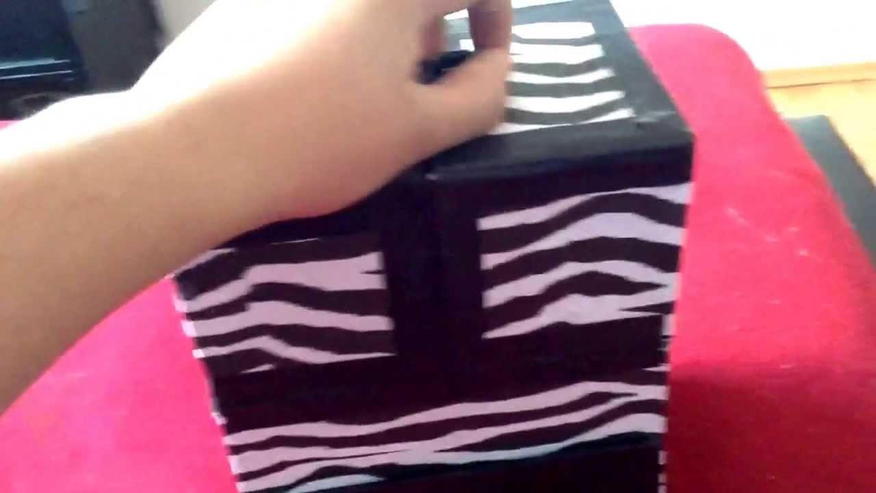Caja de Zebra para guardar cosas personales  YouTube