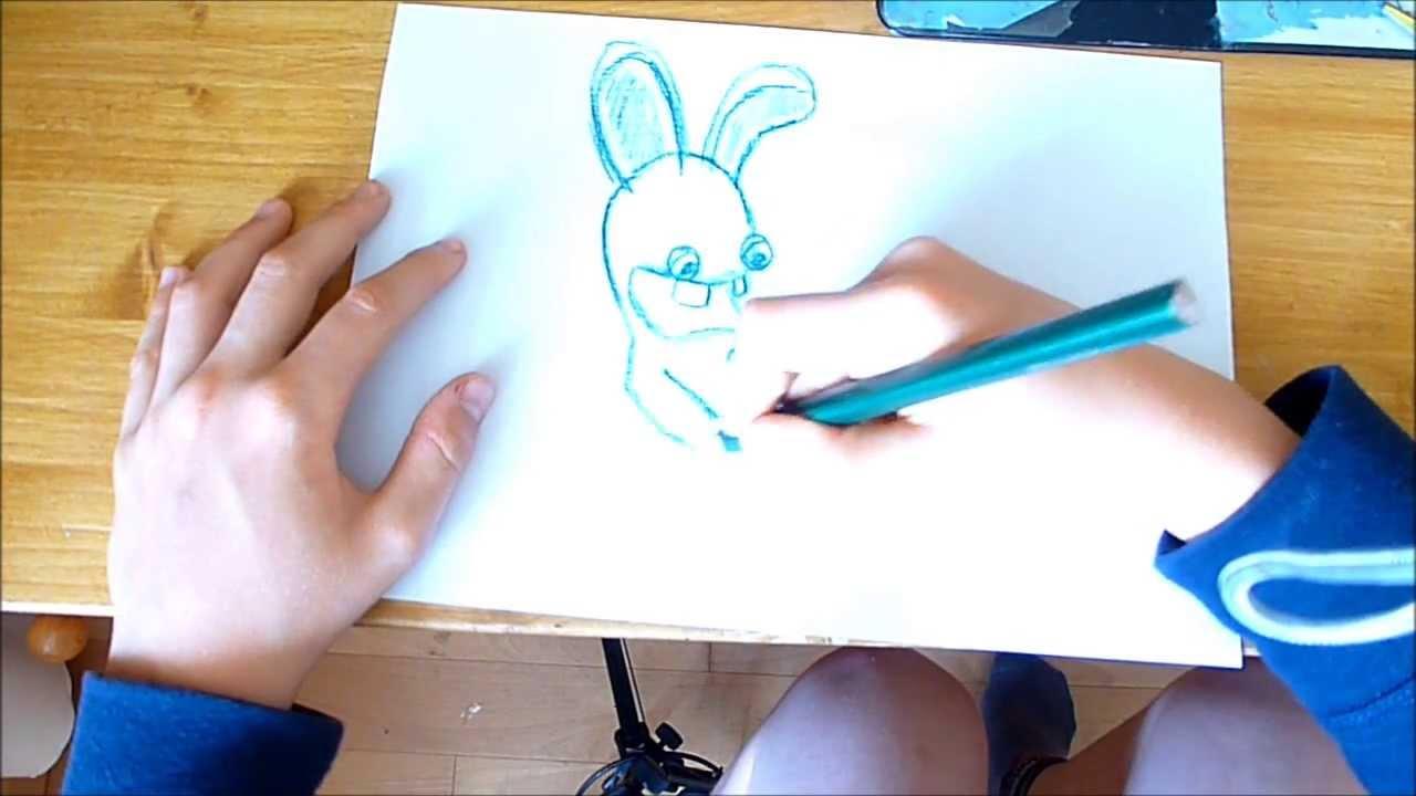 Apprendre a dessiner les lapins cr tins youtube - Dessin un lapin ...
