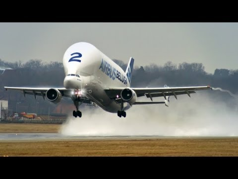Airbus Beluga A300-600ST - Takeoff at Hamburg Finkenwerder! [HD]