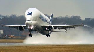 Airbus Beluga A300-600ST - Takeoff at Hamburg Finkenwerder!