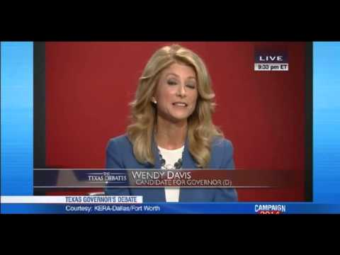 Wendy Davis slams Greg Abbott in Texas Gubernatorial debate