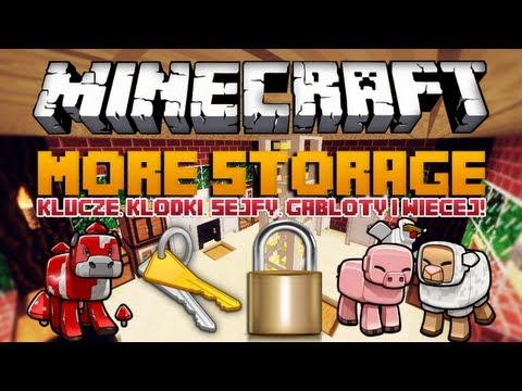 KLUCZE, KŁÓDKI, SEJFY, GABLOTY i WIĘCEJ! - Minecraft Mody - More Storage Mod!