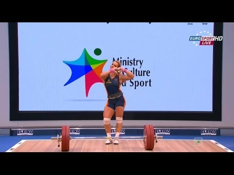 2014 European Weightlifting Championships Women's 75 kg Clean & Jerk Tel Aviv , Israel Image 1
