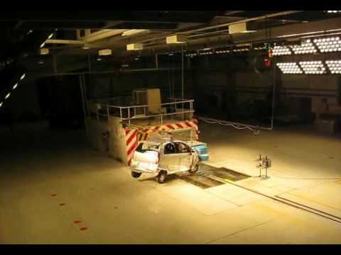 tata nano first european frontal crash test youtube