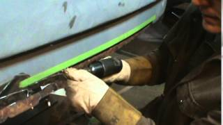 fixing the fat lip on a vw double cab
