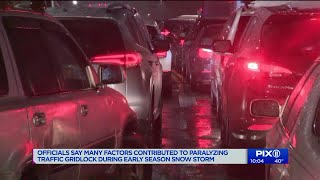 Officials say many factors contributed to paralyzing traffic gridlock during storm