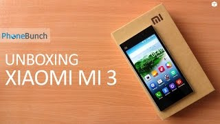 Xiaomi Mi 3 Unboxing