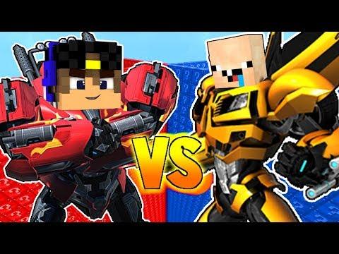 Трансформеры: Роботы под прикрытием в Майнкрафт Робот Нуб и Робот Про Троллинг Прятки ПЕ MinecraftPE