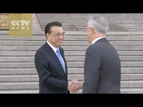 Chinese premier welcomes Australian PM in Beijing