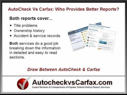autocheck  carfax  vehicle history report   youtube