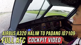 ( FULL ATC Ind ) - Airbus A320 Halim to Padang ID7109 - by Vincent Raditya - Cockpit Video
