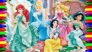 Disney Princess TIANA Kids Cartoons Coloring Book