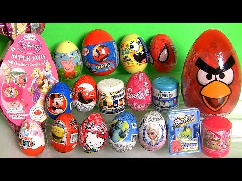 Shopkins Surprise Basket Peppa Pig Disney Frozen Elsa Kinder Princess Barbie Minecraft Harrypotter video