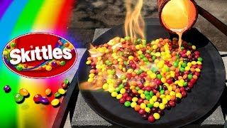 Molten Copper vs Skittles Candy