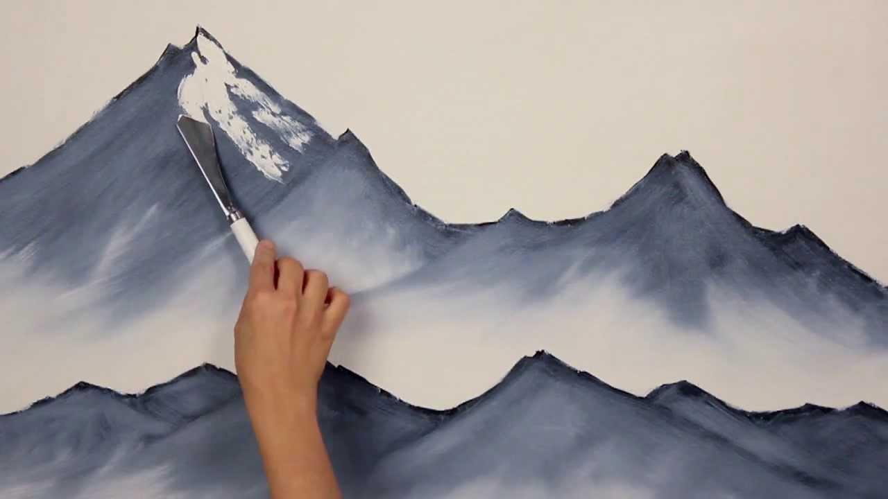 Como pintar picos nevados youtube - Paisajes nevados para pintar ...