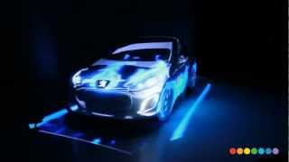 3d mapping en Peugeot 308 .Car Projection Mapping by Radugadesign