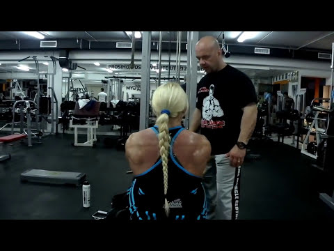 Brigita Brezovac, 6 weeks out from Ms Olympia 2012,  back workout