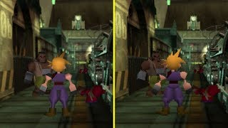 Final Fantasy VII PS1 vs PS4 Graphics Comparison
