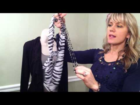 Betsy Jansey Premier Designs Jewelry with Scarves.MOV