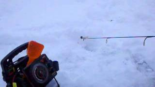 Northern WI Ice Fishing for Bluegills and Walleyes