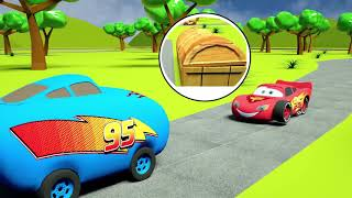 Lightning Mcqueen Tries on Stone Wheels Kids Cars Funny Stories
