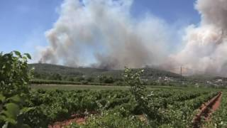 Incendie  à Correns (Var) le 18 07 2016 LC VIDEO