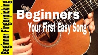 BEGINNERS- Play Your First Fingerstyle Song in 60 MINUTES! [Beginner Fingerpicking For Guitar]