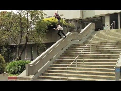 Brutal Boardslide Down Sketchy Kinked Hubba!?!! - WTF! - Zane Timpson