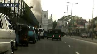 Sri Lanka blasts: Moment of Colombo church explosion caught on dashcam