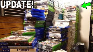 *UPDATING* My EPIC Gaming Room! Adding NEW Video Game Shelves