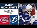 NHL Game Highlights | Canadiens vs. Lightning - Mar. 10, 2018 MP3