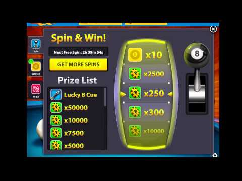 8 Ball Pool Unlimited Spin 100000 % WORKING