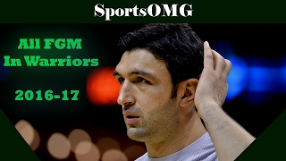 Zaza Pachulia All FGM In Warriors | 2016-17 NBA Regular Season