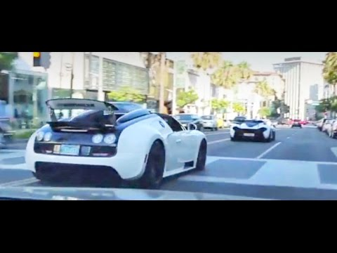 McLaren P1 and Bugatti Vitesse Take Over Beverly Hills!