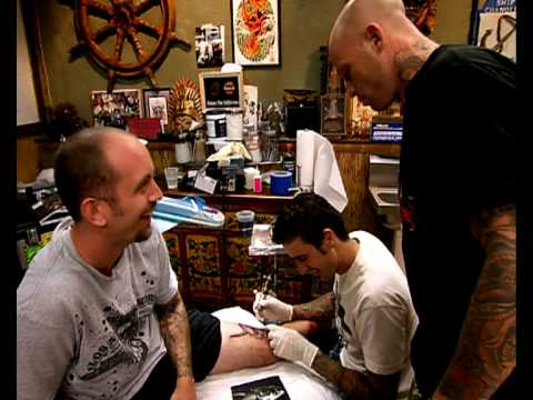 Miami Ink - Tim Hendricks tattoos Chris Garver