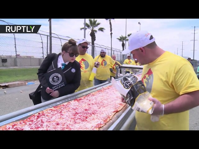 Epic Feast: California breaks world record for longest pizza ever
