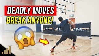 😱How to: DEADLY Basketball Scoring Moves to BREAK Your Defender Down OFF THE DRIBBLE!