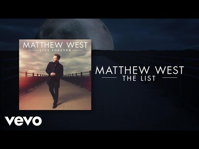 Matthew West - The List (Lyric Video)
