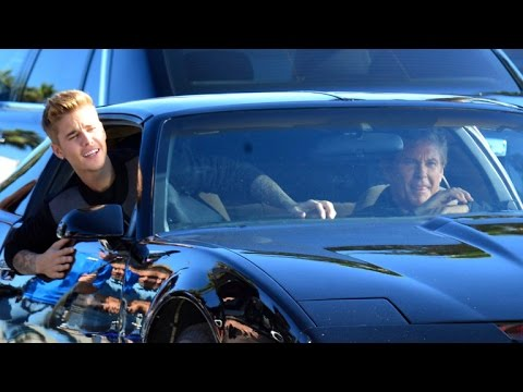 Justin Bieber and David Hasselhoff Take KITT from 'Knight Rider' For a Spin