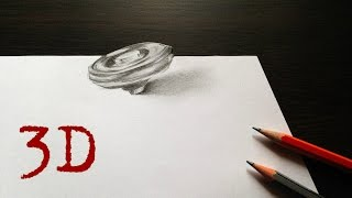 Draw a 3d Beyblade (Draw it Easy) (Amazing Optical Illusions) - |FEBARP|